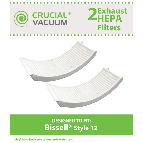 2 Bissell Style 12 Post Motor Filters