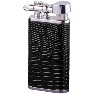 Brizard & Co Lizard Black Leather Retro 1 Lighter