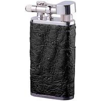 Brizard & Co Ostrich Black Leather Retro 1 Lighter
