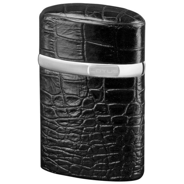 Brizard & Co Croco Black Lotus Table Lighter