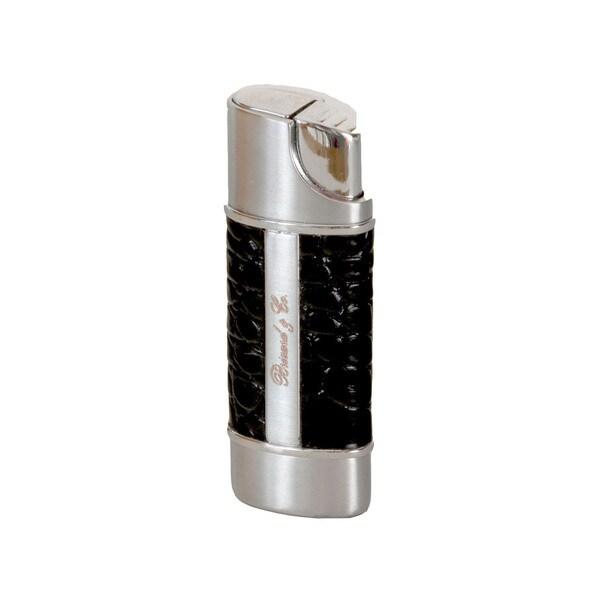 Brizard & Co Croco Black Nano Single Torch Lighter