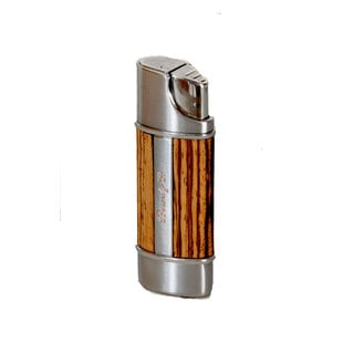 Brizard & Co Exotic Zebrawood Wood Nano Single Torch Lighter