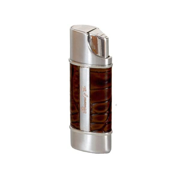 Brizard & Co Croco Tobacco Nano Single Torch Lighter