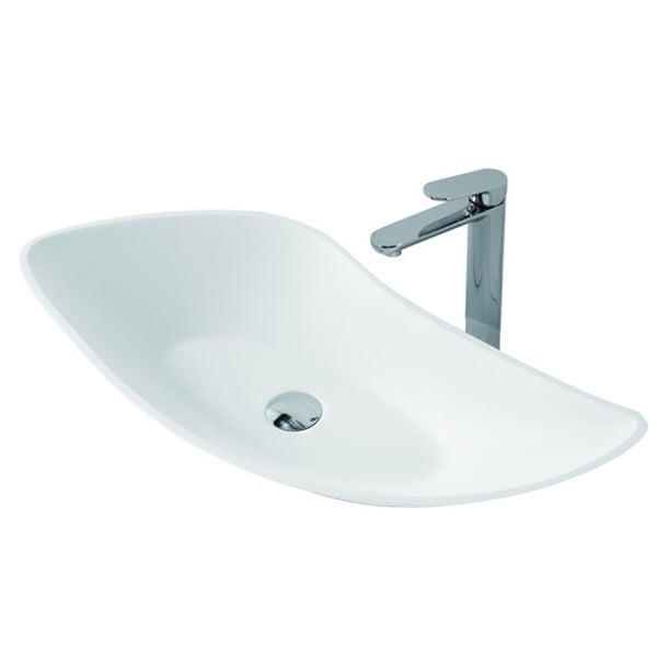 Stone Resin Sink : ... Inch Stone Resin Solid Surface Rectangular Shape Bathroom Vessel Sink