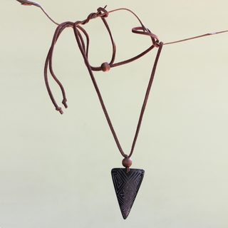 Handcrafted Bone Chang Wood 'Starlight Dimension' Necklace (Indonesia)
