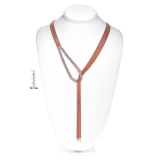 Isla Simone - Tear Drop Drape Crystal Necklace
