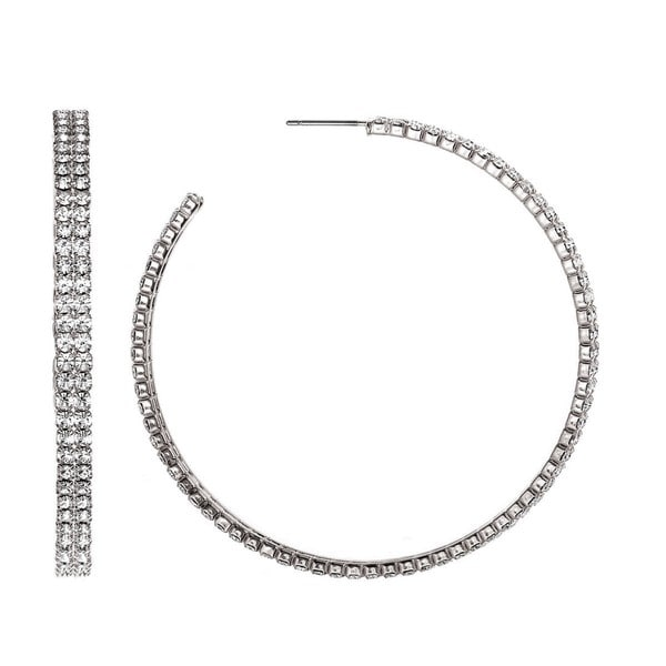 Isla Simone Double Row 55mm Hoop Earrings