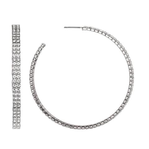 Isla Simone Double Row 55mm Hoop Earrings