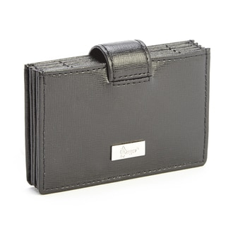 Royce Leather RFID Blocking Credit Card Organizer Wallet in Saffiano Leather