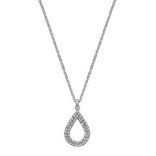 Isla Simone - Crystal Double TearDrop Necklace