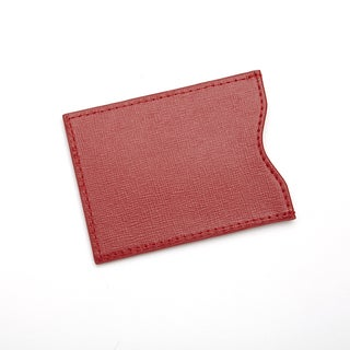 Royce Leather RFID Blocking Credit Card Sleeve in Saffiano Genuine Leather