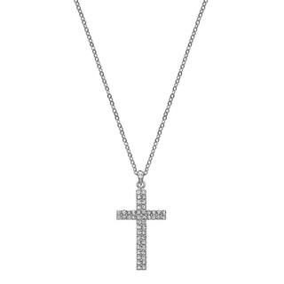 Isla Simone - Crystal Double Heart Necklace