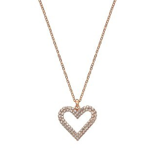 Isla Simone - Crystal Double Heart Necklace