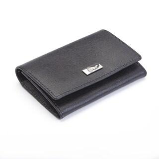 Royce Leather RFID Blocking Italian Saffiano Leather Business Card Case