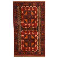 Handmade Herat Oriental Afghan Tribal Balouchi Wool Rug  - 2'8 x 4'8 (Afghanistan)