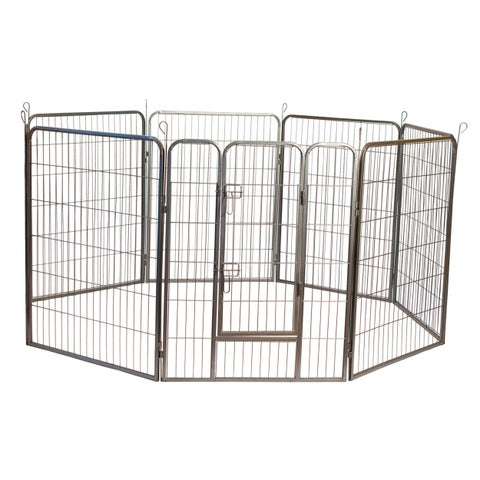 Iconic Pet Heavy Duty Metal Tube Pet Exercise and Training Playpen