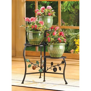 Zingz & Thingz Country Apple Wrought Iron Plant Stand