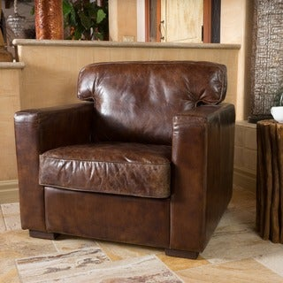 Christopher Knight Home Bradley Top Grain Leather Arm Chair