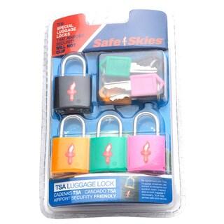Safe Skies TSA-Recognized Padlocks (Set of 4)