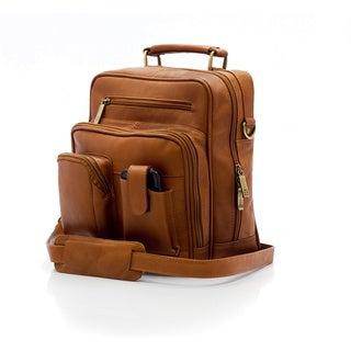 Muiska Vaquetta Leather Carlos Large Messenger Satchel Bag