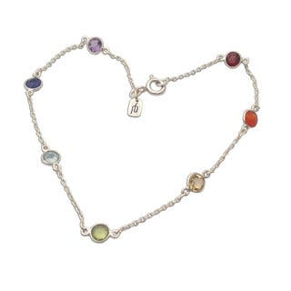 Sterling Silver Multi-gemstone Cable Chain Bracelet|https://ak1.ostkcdn.com/images/products/10626147/P17695731.jpg?impolicy=medium