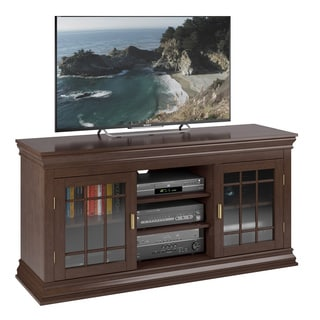 Sonax TCN-132-B Carson Dark Espresso Wood Veneer TV Bench, (for TVs up to 68 inches)