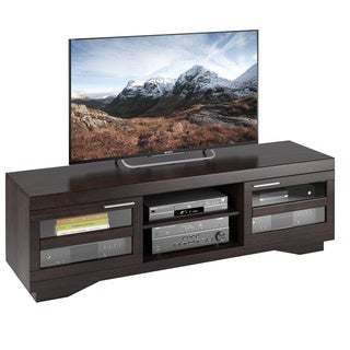 Sonax Granville Wood Veneer TV Bench, (for TVs up to 80 inches)