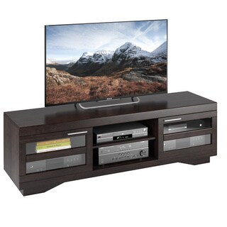 CorLiving Granville Wood Veneer TV Bench, (for TVs up to 80 inches)