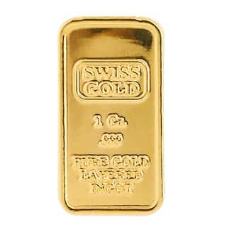 American Coin Treasures 1 Gram Swiss Ingot Tribute|https://ak1.ostkcdn.com/images/products/10626221/P17695810.jpg?impolicy=medium