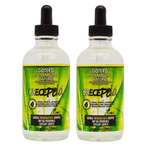 BOE Crece Pelo Gotero 4.25-ounce Hair Growth Drop Fitoterapeutico Natural (Pack of 2)