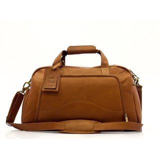 Muiska Vaquetta Leather Carry-on Weekender Duffle Bag