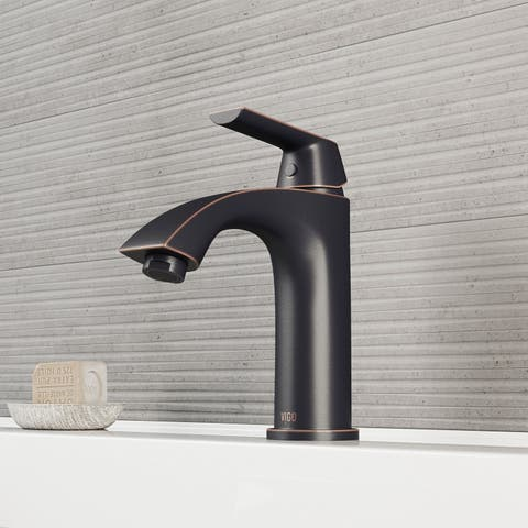 VIGO Penela Antique Rubbed Bronze Single Hole Bathroom Faucet
