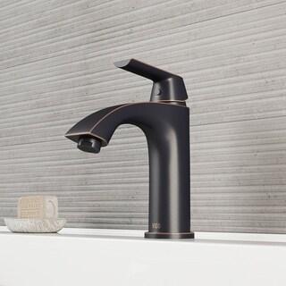 VIGO Penela Bathroom Single Hole Faucet in Antique Rubbed Bronze with Pop Up