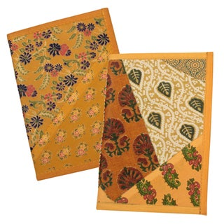 Handmade Large Patchwork Fabric Journal (India)