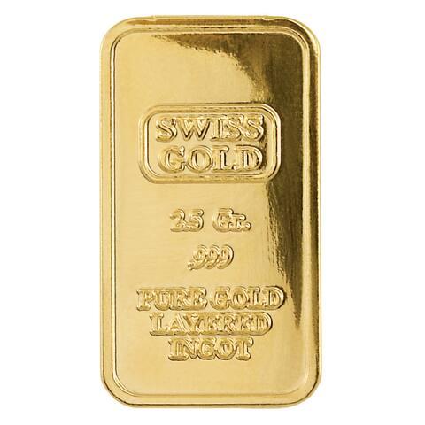 American Coin Treasures Gold/Brass 2.5-gram Swiss Ingot Tribute