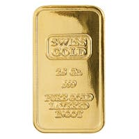 American Coin Treasures Gold/Brass 2.5-gram Swiss Ingot Tribute