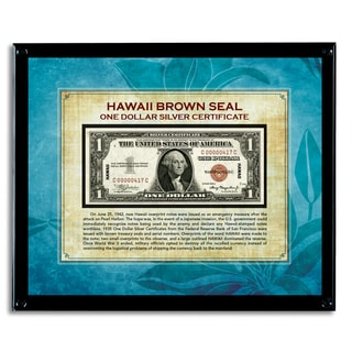 American Coin Treasures Hawaii Brown Seal Note in Acrylic Frame