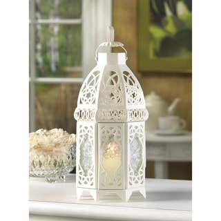 Zingz & Thingz 12-inch White Lattice Lantern