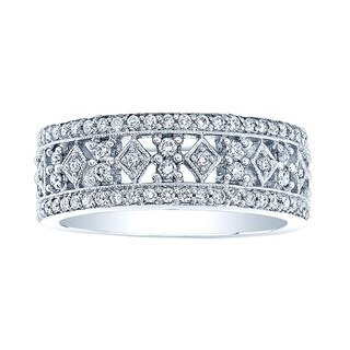 18k White Gold 1 1/8ctTDW Diamond Band Size 7
