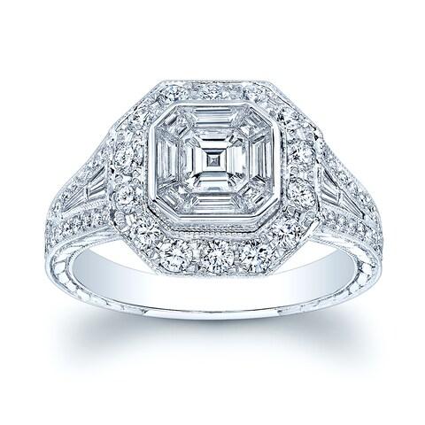 18k White Gold 1.45ct TDW Diamond Ring Size 7