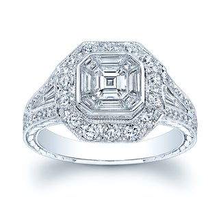 18k White Gold 1.45ct TDW Diamond Ring Size 7
