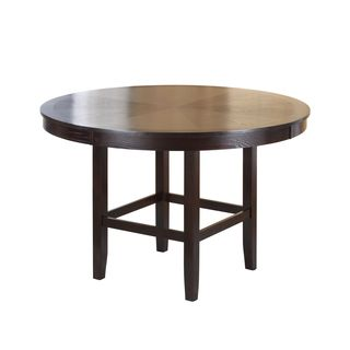 Legged Pedestal 54 Inch Round Counter Height Dining Table in Dark Chocolate