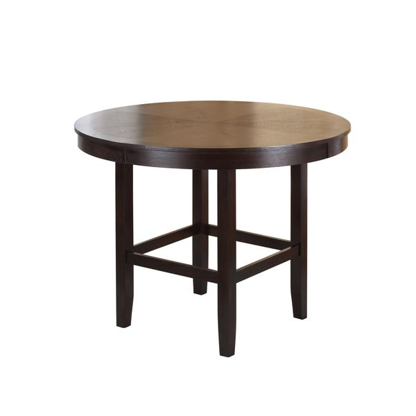 dba96518b1ed7c Legged Pedestal 48 Inch Round Counter Height Dining Table in Dark Chocolate