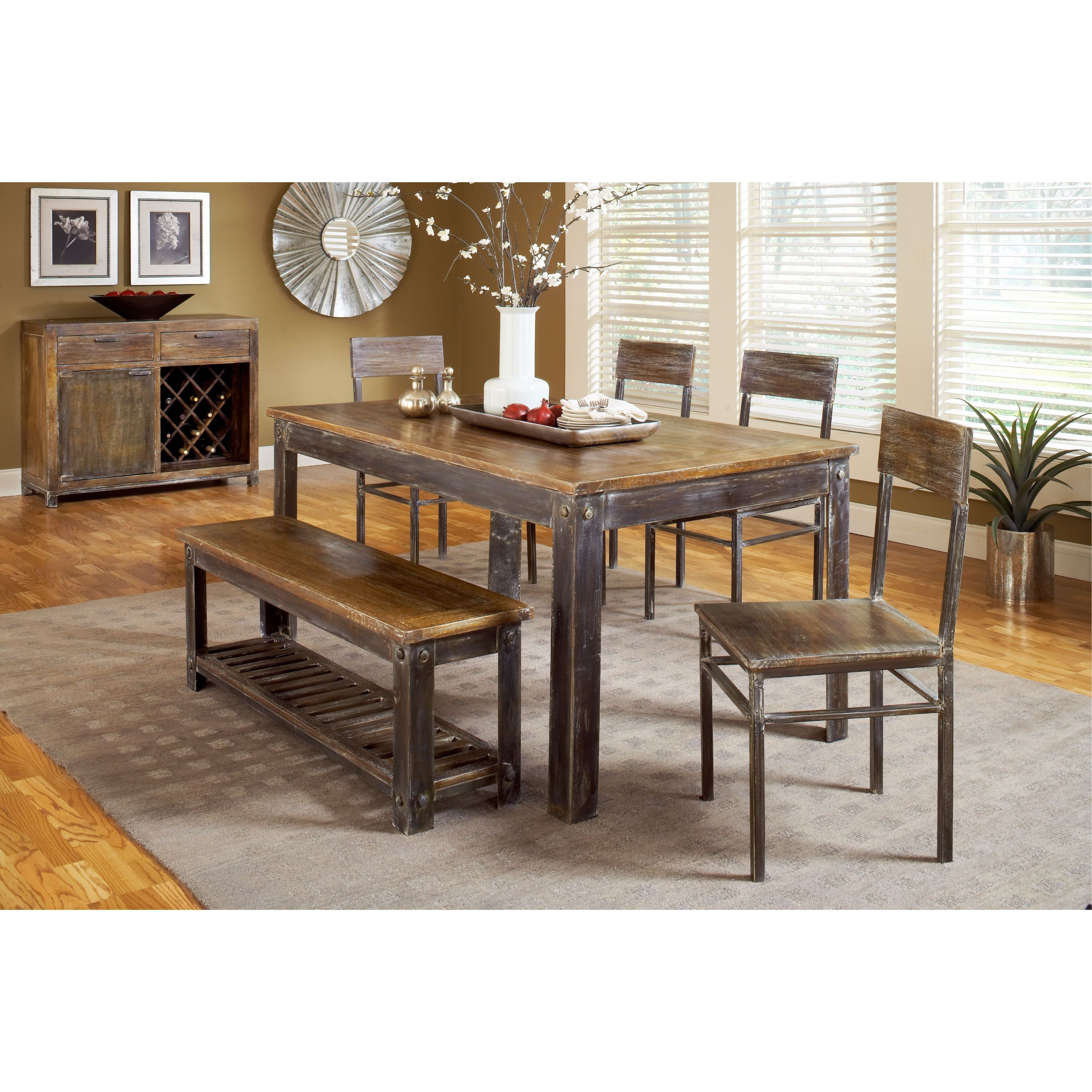 Classic Rustic Mango Wood Dining Table Overstock 10626386