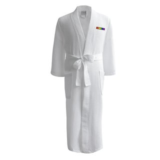 Conrad Egyptian Cotton LGBT Pride Waffle Spa Robe - Flag (Male)
