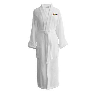 Wyndham Egyptian Cotton LGBT Pride Terry Spa Robe - Flag (Female)