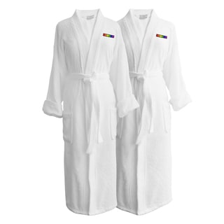 Wyndham Egyptian Cotton LGBT Pride Terry Spa Robe - Flag (Set of Two; Female)