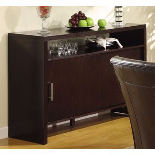 Modern Sliding Door Sideboard in Dark Chocolate