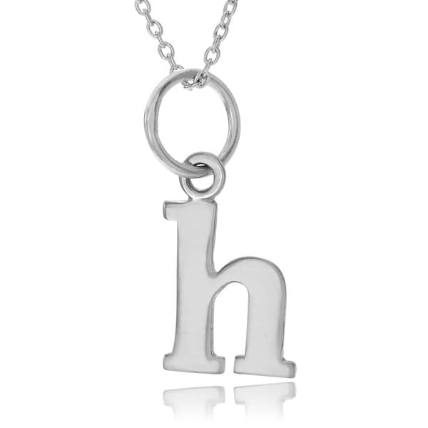 DARLING DIAMOND   STERLING Silver INITIAL B  LETTER ONLY