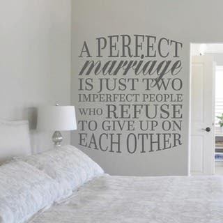 "A Perfect Marriage Wall Decal (42"" x 48"")